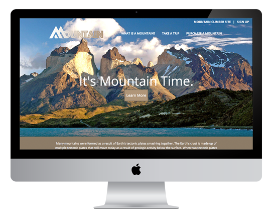 Wordpress Mountain Theme website image